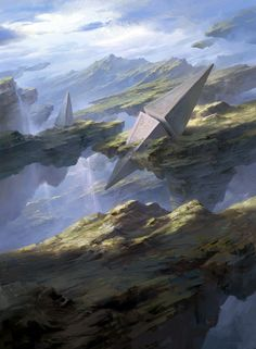 Magic the Gathering: Basic Lands, Tianhua Xu on ArtStation at https://www.artstation.com/artwork/XJrJa