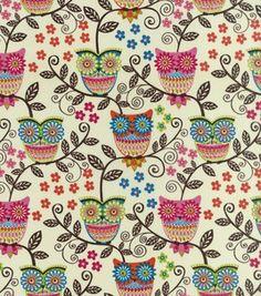 Keepsake Calico Fabric- Whimsical Owls & keepsake calico fabric at Joann.com