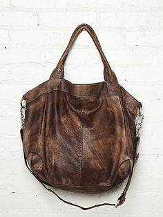 Gesa Distressed Tote  http://www.freepeople.com/whats-new/gesa-distressed-tote/ :: BE STILL MY HEART! This is everything I want in a bag.