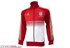 X13097 adidas Bayern Munich Anthem Jacket University Red 6a2791656b982