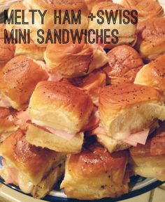 Melty Ham and Swiss Mini Sandwiches