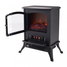 Electric Fireplace Heater Fire Flame 1000W 2 Heat Settings Safety Cut Off  #ElectricFireplaces