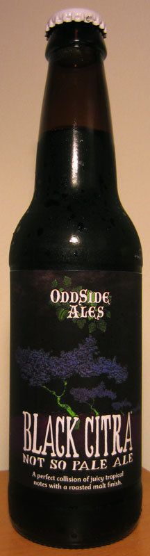 Black Citra from Oddside Ales in Grand Haven, Michigan.  Available at Tom's Food Center in Okemos, Michigan.