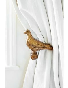 Wooden Bird Curtain Holdbacks - Set of Two - Sophie Conran