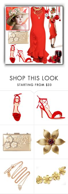 """""""Little Red Dress"""" by m-kints ❤ liked on Polyvore featuring Givenchy, Gianvito Rossi, Rimen & Co., La Perla, Carbon & Hyde, Tiffany & Co. and red"""