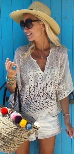 #summer #beach #outfits | Lace + Denim
