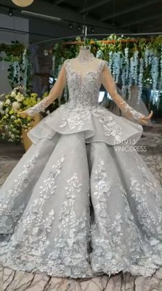 Long Sleeve Floral Quinceanera Dresses Vintage Silver Sweet 15 Dress - Source by celestabolte - Neon Prom Dresses, Debut Dresses, Quinceanera Dresses, Pageant Dresses, Luxury Wedding Dress, Dream Wedding Dresses, Bridal Dresses, Masquerade Ball Gowns, Ball Gowns Prom