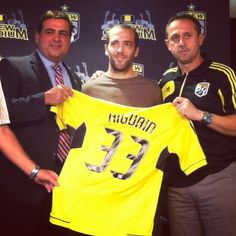 One of the newest member of the Columbus Crew, Fecerico Higuain. possibly my new fav? Columbus Crew, Crushes, Polo Ralph Lauren, Soccer, Platform, Community, Tips, Sports, Mens Tops