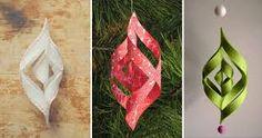 Výsledek obrázku pro vánoční ozdoby z papíru návod