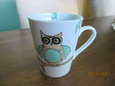 Cup Mug Owl NewYear Trends Finds Gifts by PorcelainChinaArt