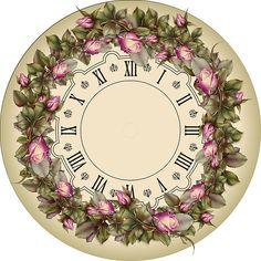 ZOOYA Hot Saleing Diy Diamond Painting Rhinestones Mosaic Kit Sets Round Diy Diamond Painting Clock And Flower Paper Clock, Clock Art, Diy Clock, Vintage Labels, Vintage Diy, Vintage Images, Vintage Floral, Clock Face Printable, Sewing Crafts