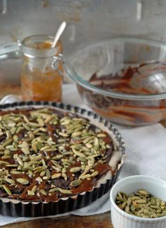 Between a crunchy crust and smooth caramel, this tart is perfect for making and serving to a crowd!