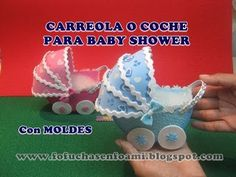 CARREOLA O COCHE PARA BABY SHOWER EN FOAMY O GOMAEVA CON MOLDES - YouTube Baby Shower Deco, Shower Bebe, Baby Shower Parties, Baby Boy Shower, Foam Crafts, Baby Crafts, Crafts For Kids, Baby Crib Diy, Baby Shawer