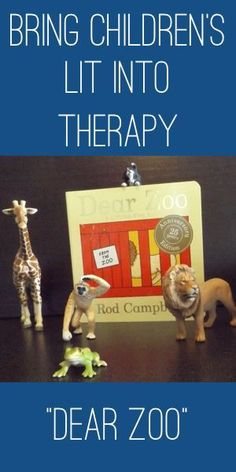 "Therapy ideas for using ""Dear Zoo"" in your speech and language therapy room."