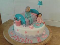 #pyjama #party #fiesta #pijamas #girls #cake #fondant