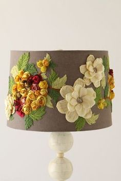 Anthropologie Rose Landscape Lampshade #anthrofave
