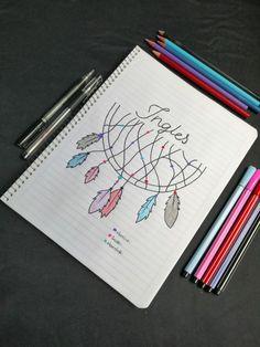 Bullet Journal School, Bullet Journal Inspo, Notebook Art, Notebook Covers, Notebook Design, Lettering Tutorial, Hand Lettering, Happy Birthday Doodles, School Suplies