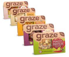 Baby snack Packaging - Graze Good To Go. Food Branding, Food Packaging Design, Packaging Design Inspiration, Brand Packaging, Packaging Snack, Product Packaging, Branding Design, Protein Snacks, Protein Bars