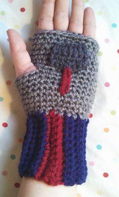 Crochet Handmade Thor Fingerless Gloves The Avengers