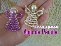 Post completo e lista de materiais no Blog: http://nmbijouxnubiamaia.blogspot.com.br/2015/06/passo-passo-anjo-de-perolas.html https://www.facebook.com/nmbijo...