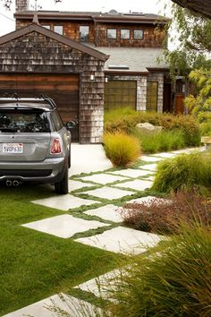Create a permeable paver driveway to reduce water runoff.