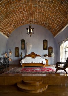 Hacienda Las Trancas - my bedroom in Mexico.