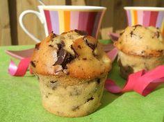 Muffins moelleux poire chocolat sans gluten et sans lactose