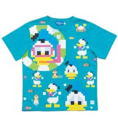 TDR Tシャツ レトロ 8bit デジタルデザイン ドナルド S〜LL