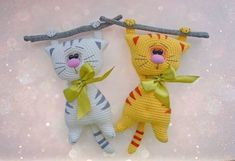 Котики крючком игрушки амигуруми