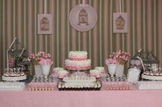 decoracao mesa doces cha de bebe menina