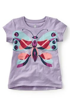Tea Collection 'Farfalla di Giacomo' Graphic Tee (Toddler Girls, Little Girls & Big Girls) available at #Nordstrom