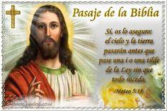 Vidas Santas: Santo Evangelio según san Mateo 5:18