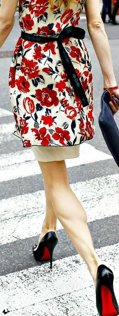 Belted white floral