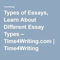 Essay On The Yellow Wallpaper Types Of Essays Learn About Different Essay Types  Timewritingcom   Timewriting English Thesis Examples For Essays also Reflection Paper Example Essays  Best Types Of Essay Images  Classroom Learning English School Sample Essay Paper