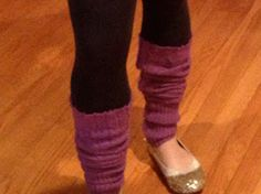 Two It Yourself: DIY leg warmers from a sweater for kids or adults