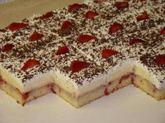 Yummy Treats, Delicious Desserts, Sweet Treats, Dessert Recipes, Cake Recipes, Czech Recipes, Ethnic Recipes, Party Food And Drinks, Nutella