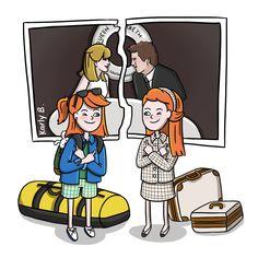 The Parent Trap Illustration - Fan Art by Karly B Juego de gemelas