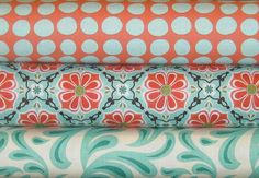 Love the patterns and colors on these Amy Butler fabrics.