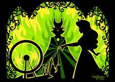 """""""Sleeping Beauty"""" fan art - Maleficent's Curse Fulfilled. by Cory Jensen"""