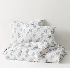 Block Print Paisley Bedding Collection | RH TEEN