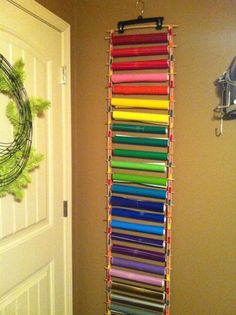 Great way to organize vinyl rolls