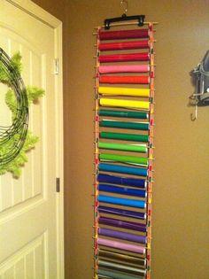 Great way to organize vinyl rolls
