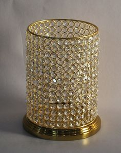 Hurricane Candle Holder W/Clear Colour Crystal (62315) ...