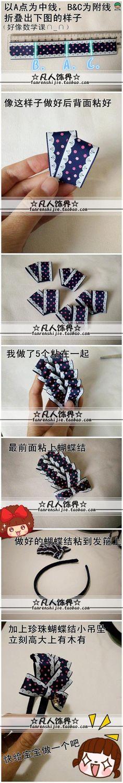 Смертельный украшения сектора DIY лук украшения для волос ручной работы учебник - * 65 * помада Лолита ╭ ★ кубиками сеть