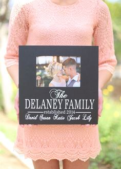 Personalized Family Names Photo Frame - Morgann Hill Designs