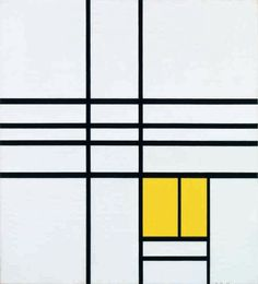 Piet Mondrian, Composition with Yellow, 1936. Philadelphia Museum of Art. Digital Image: © The Philadelphia Museum of Art/Art Resource/Scala, Florence.