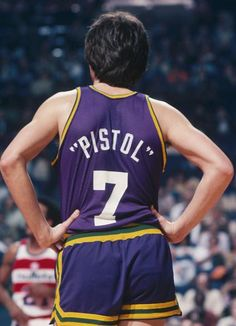 """One of the most flashiest and competitive players in the 70's """"Pistol Pete"""" dominated the college game averaging over 40 ppg for LSU. That success continued in the NBA with career ppg of 24. His playmaking, scoring and ball-handling skills were off the charts and injuries shortened the length of his career."""