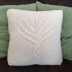 Tree of Life knit pillow cover pattern - here at last!