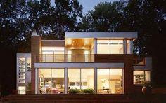 modern beach house exteriors   Modern lake house decorating ideas wooden floors plan design home
