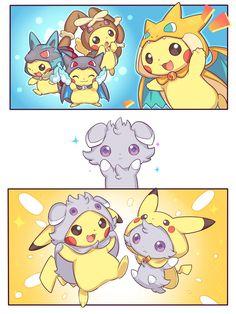 Pikachu and espurr